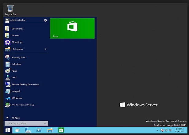 Microsoft Windows Server 2016 Technical Preview